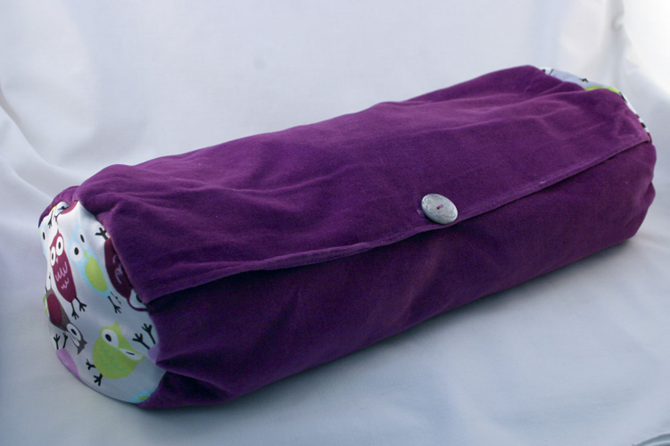 lavender and neck roll pillow night owl and velvet pattern
