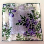 A lovely lavender sachet in beautiful flowered organza