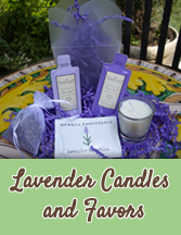 Lavender Candles, Keepsakes and Favors for your Wedding