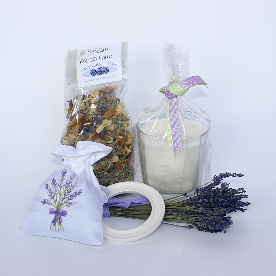 Contents of Lavender-Citrus Gift basket